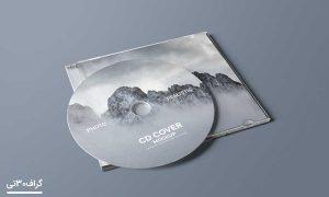 موکاپ cd و کاور cd