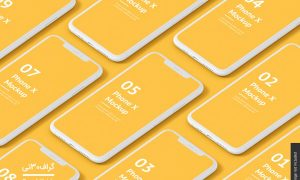 موکاپ رابط کاربری موبایل iphonex