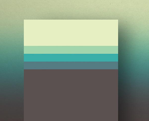رنگ های مینیمال رد طراحی گرافیک