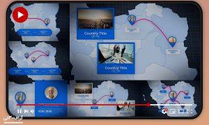 موشن آماده افترافکت نقشه ایران