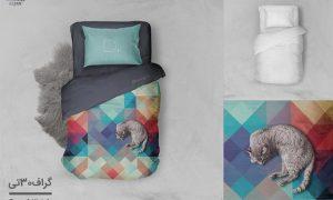 موکاپ نمای بالای تخت خواب
