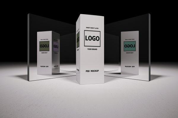 موکاپ باکس محصول سه بعدی