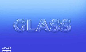 موکاپ استایل متن شیشه ای رایگان