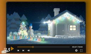 پروژه افترافکت تبریک عید کریسمس